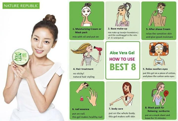 aloe vera soothing gel nature republic how to use