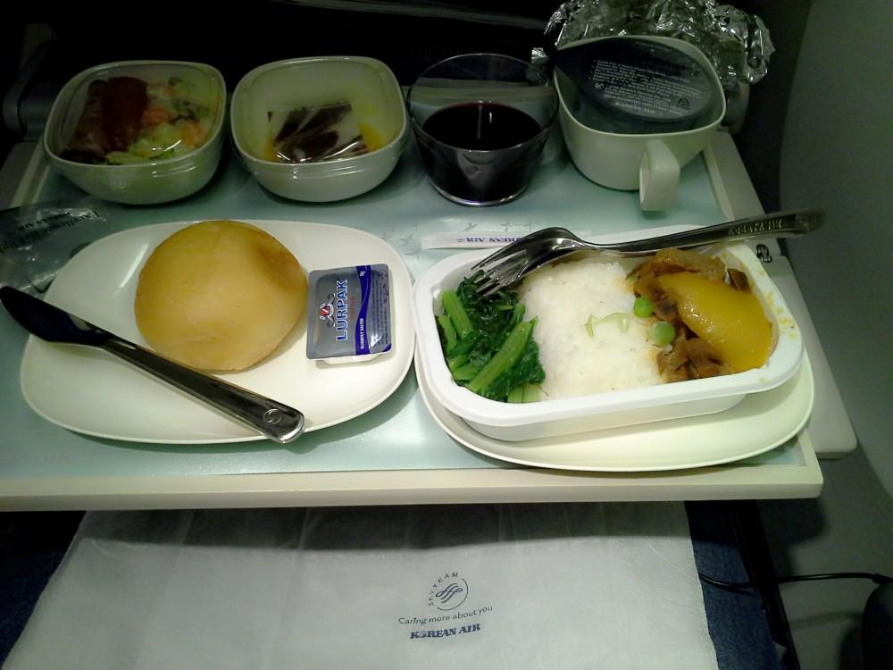 Korean Air meal flight Molang Molla Korea