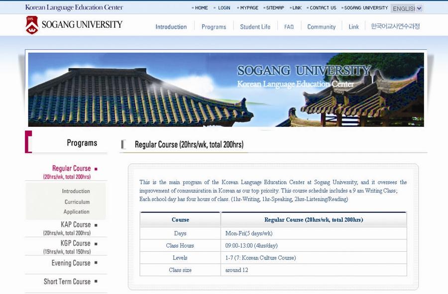 Sogang University KLEC Regular Course Molla Korea molangkorea