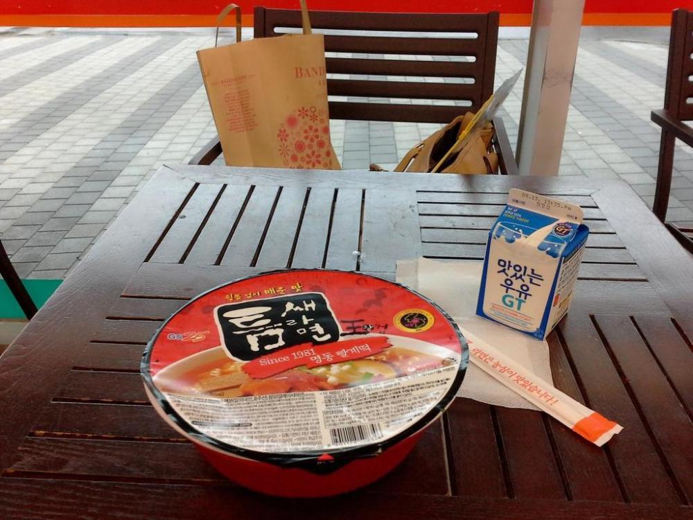 Molang Korea GS25 Ramyeon and Milk_20160828224821