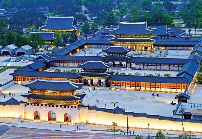 Gyeongbokgung_South Korea view from above